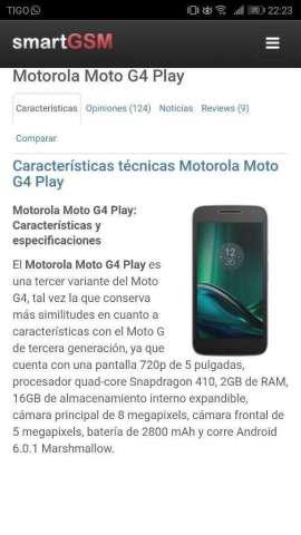 Vendo Motorola G4 Play 750