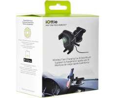 IOTTIE soporte para auto con carga inalambrica - Iphone / Samsung y otras marcas compatibl...