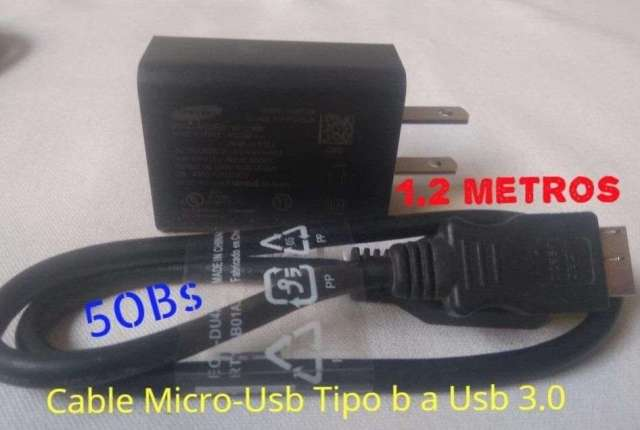 cargador y Cable Usb 3.0 Galaxy S5 Note 3